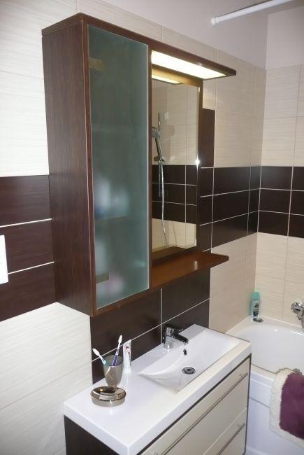 wenge-bézs fürdőszoba bútor